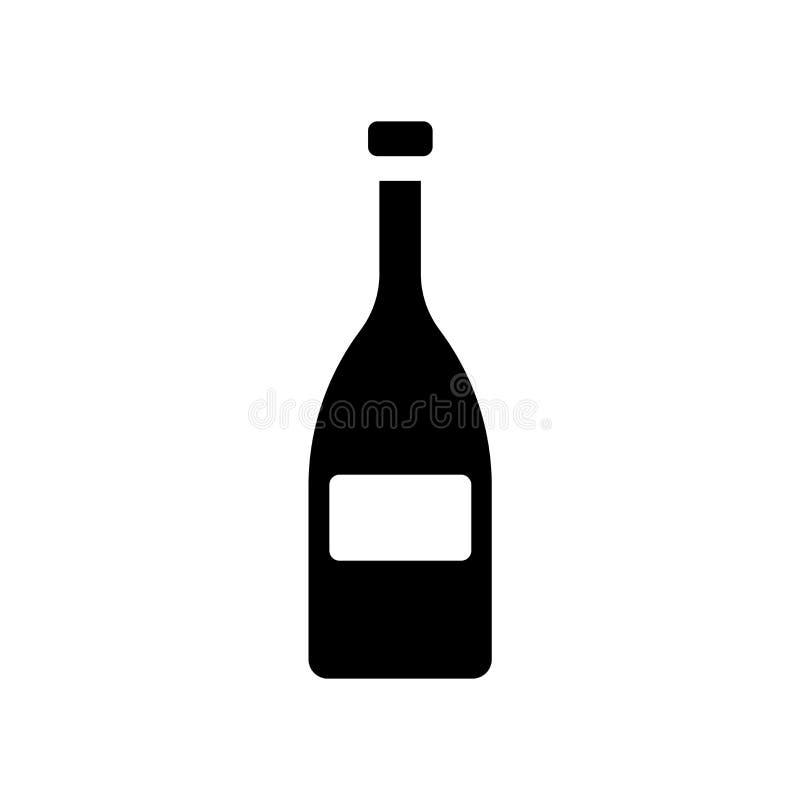 Значок бутылки вина  бесплатная иллюстрация