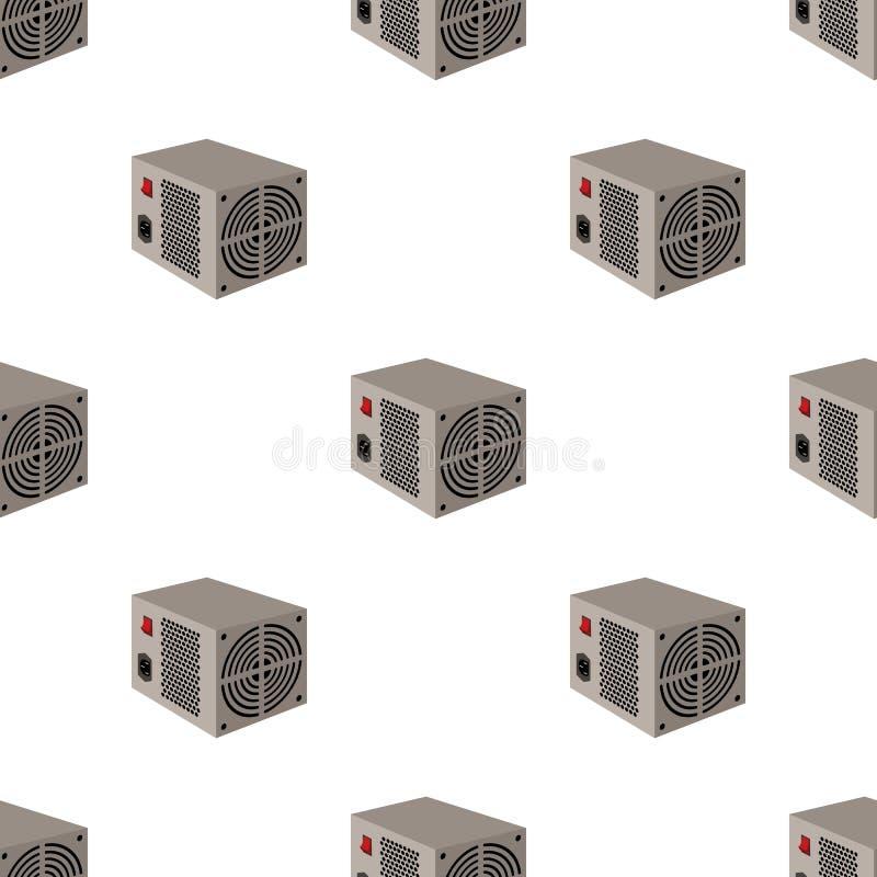 Значок блока электропитания в стиле шаржа изолированный на белой предпосылке иллюстрация штока