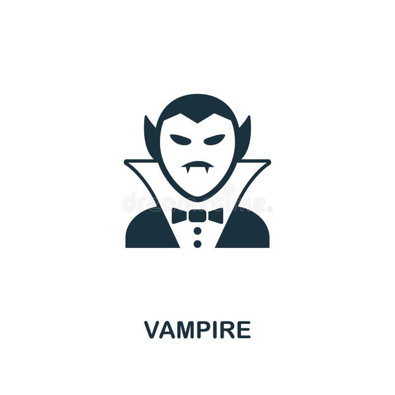 Значок вампира Наградной дизайн стиля от собрания значка хеллоуина UI и UX Значок вампира пиксела идеальный Для веб-дизайна, прил бесплатная иллюстрация