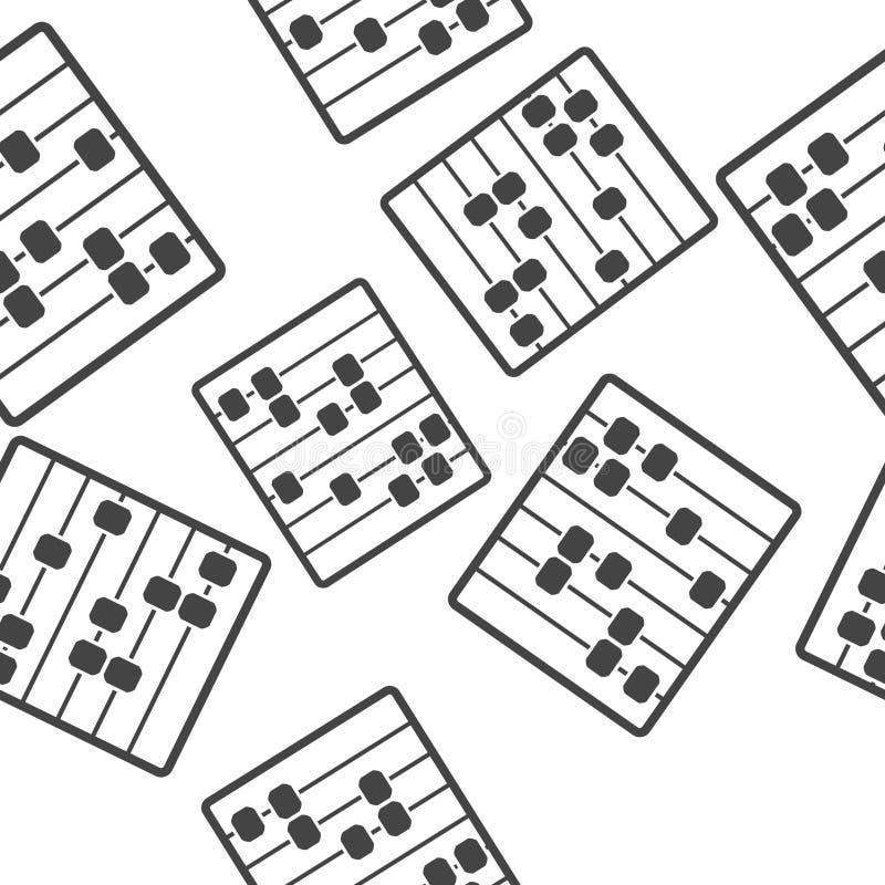 Значок вектора абакуса Деревянный абакус для учить картину счета и математики безшовную на белой предпосылке бесплатная иллюстрация