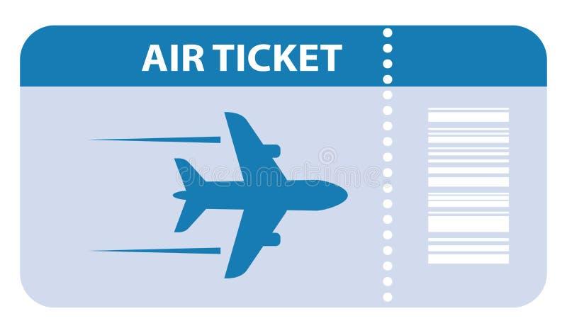 Значок вектора авиабилета бесплатная иллюстрация