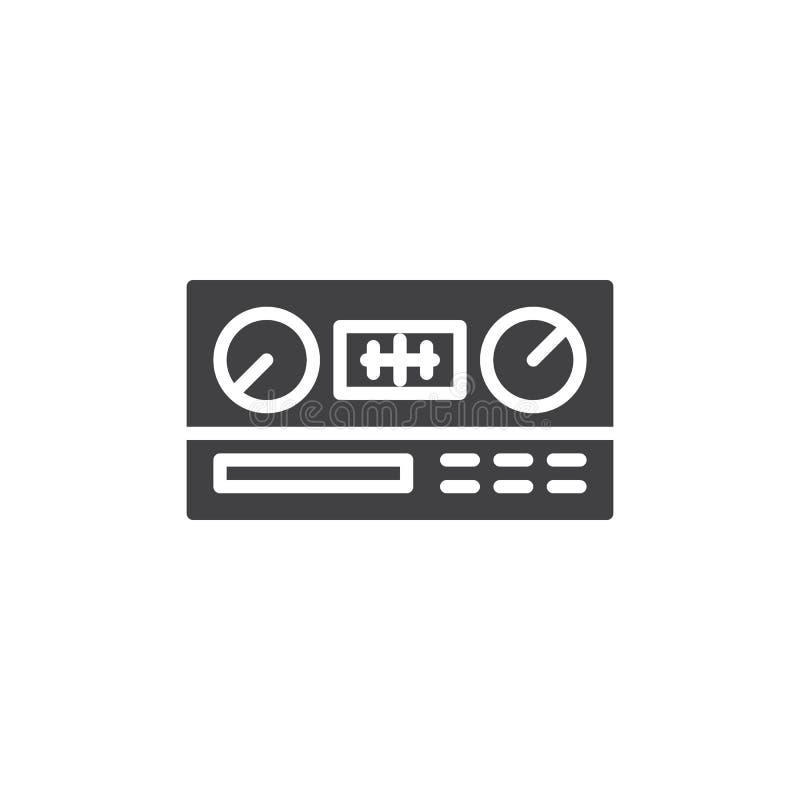 Значок вектора автомобильного радиоприемника бесплатная иллюстрация
