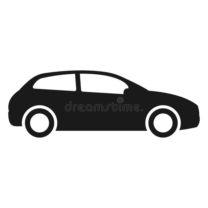 Значок вектора автомобиля Изолированная простая иллюстрация логотипа бортового автомобиля иллюстрация штока