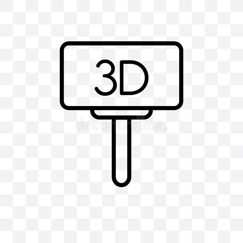 Значок вектора афиши фильма линейный изолированный на прозрачной предпосылке, концепции транспарентности афиши фильма можно испол иллюстрация вектора
