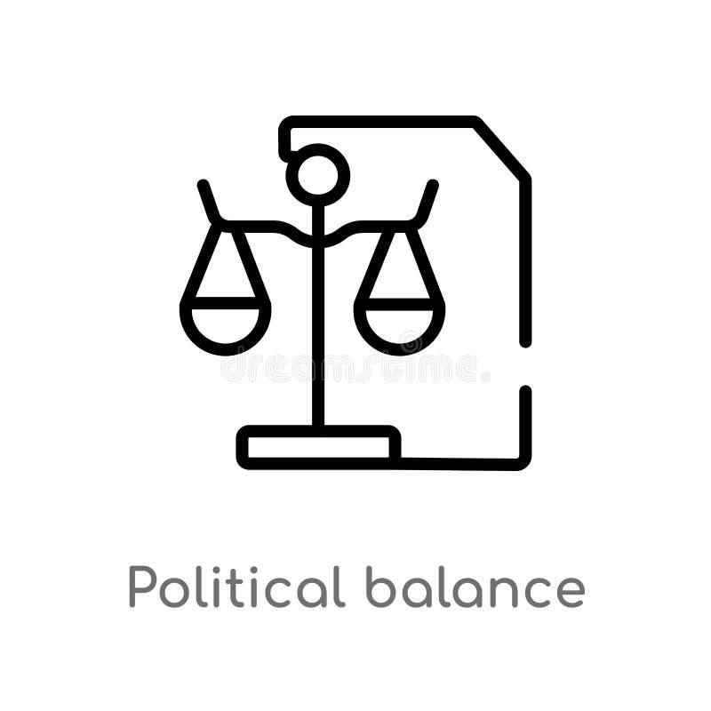 значок вектора баланса плана политический изолированная черная простая линия иллюстрация элемента от политической концепции Edita иллюстрация вектора