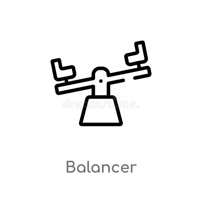 значок вектора балансера плана изолированная черная простая линия иллюстрация элемента от обобщенного представления editable ход  иллюстрация штока