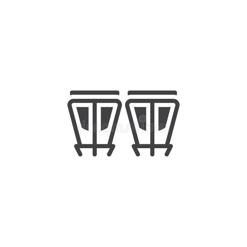 Значок вектора барабанчиков бонго бесплатная иллюстрация