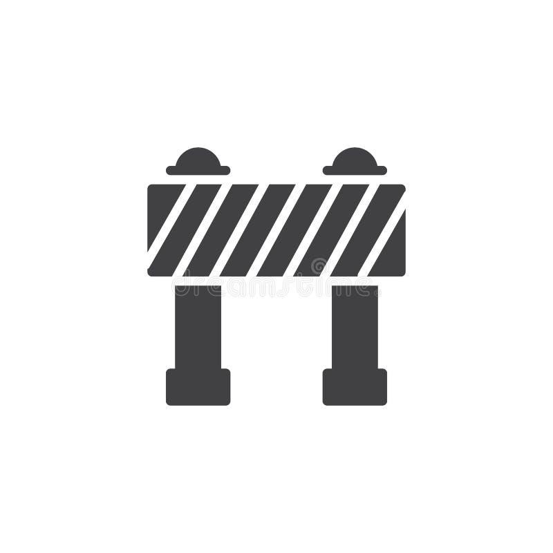 Значок вектора барьера бесплатная иллюстрация