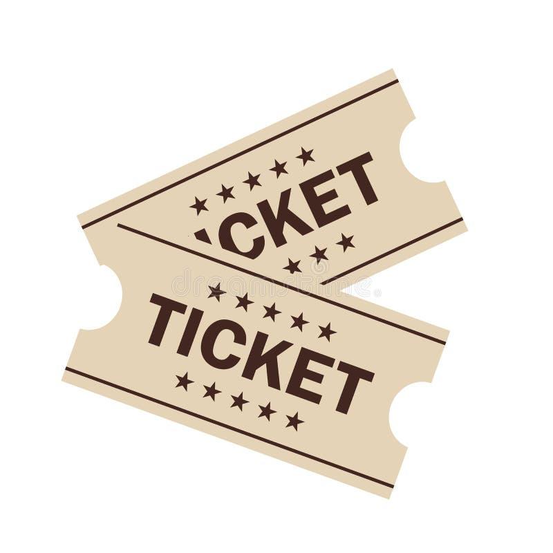Значок вектора билета бесплатная иллюстрация