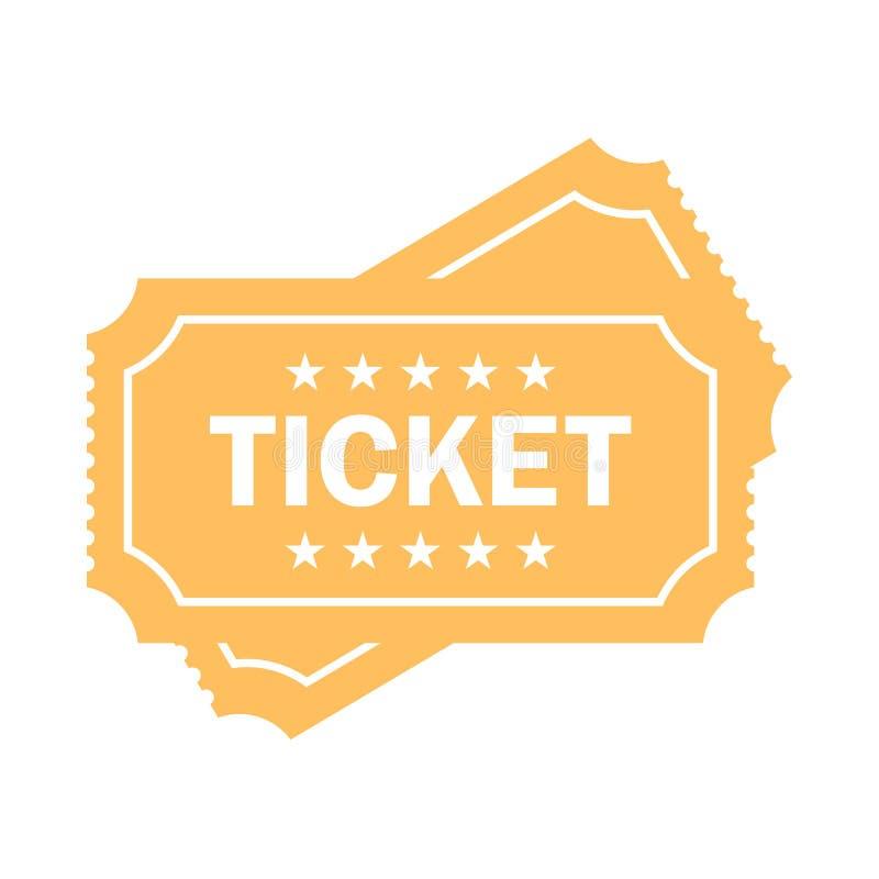 Значок вектора билета кино бесплатная иллюстрация