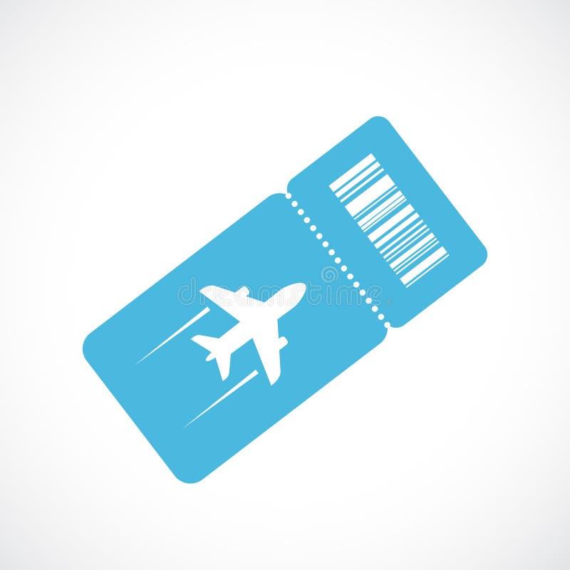 Значок вектора билета на самолет иллюстрация вектора