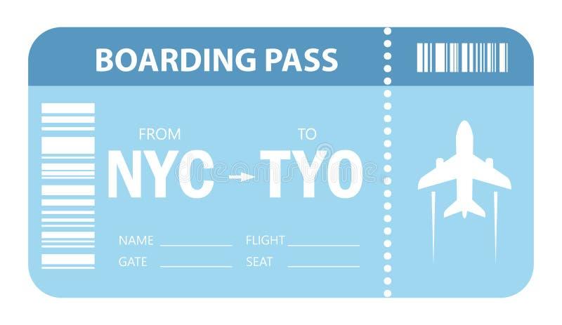 Значок вектора билета на самолет иллюстрация штока