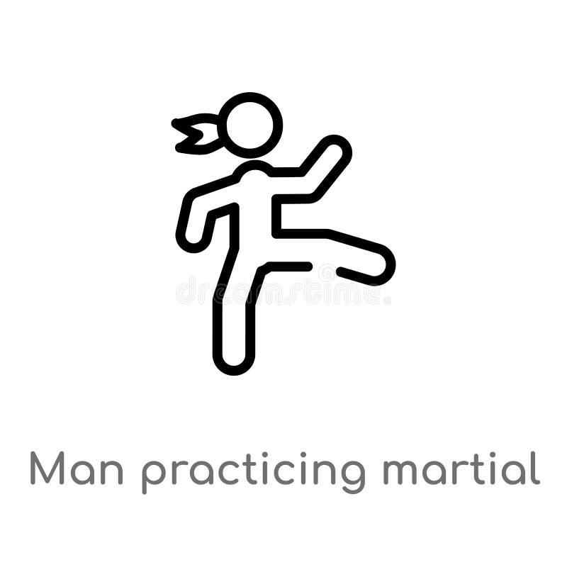 значок вектора боевых искусств человека плана практикуя r editable бесплатная иллюстрация