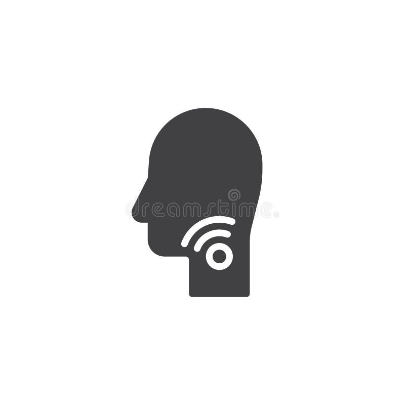 Значок вектора боли в горле иллюстрация штока