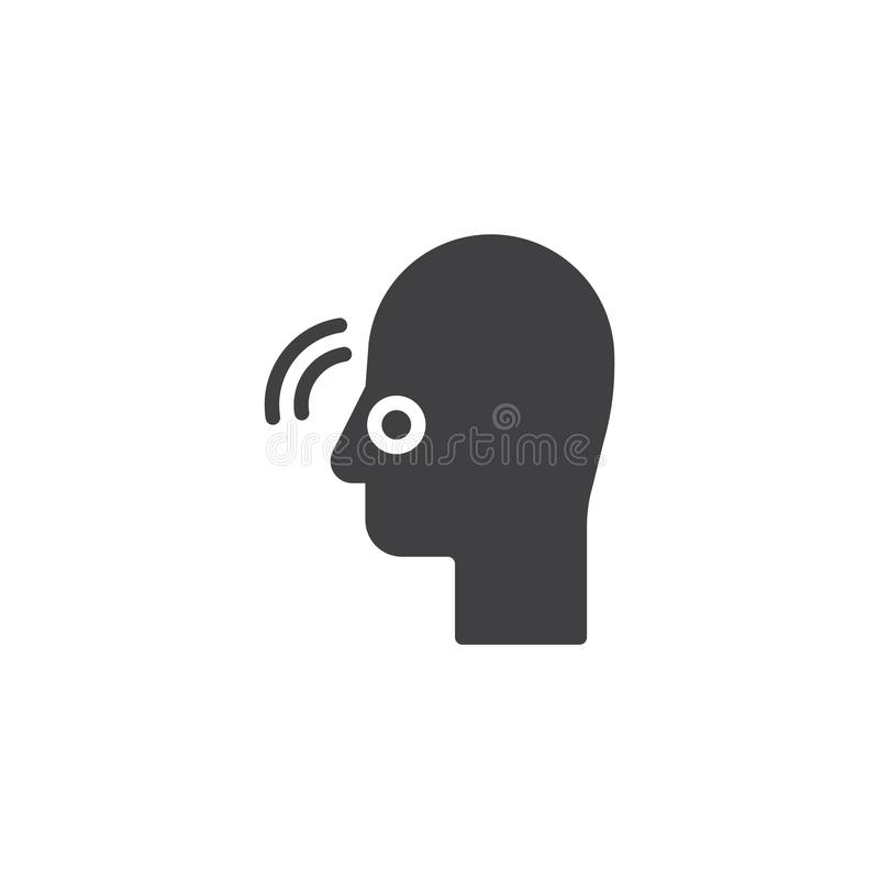 Значок вектора боли носа иллюстрация вектора