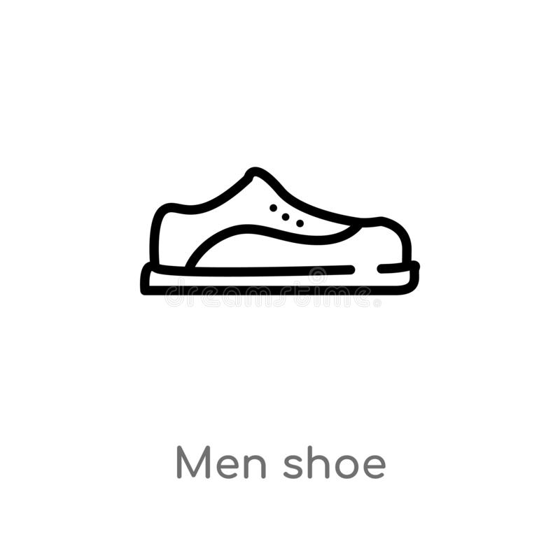 значок вектора ботинка людей плана изолированная черная простая линия иллюстрация элемента от концепции моды editable люди хода в бесплатная иллюстрация