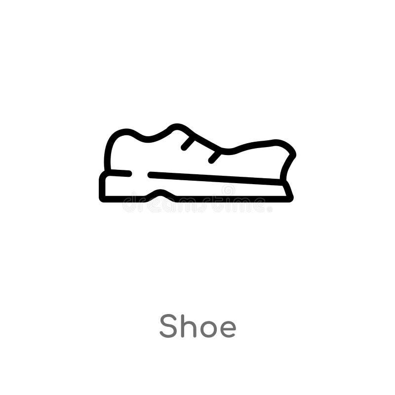 значок вектора ботинка плана изолированная черная простая линия иллюстрация элемента от концепции образования 2 editable ботинок  иллюстрация штока