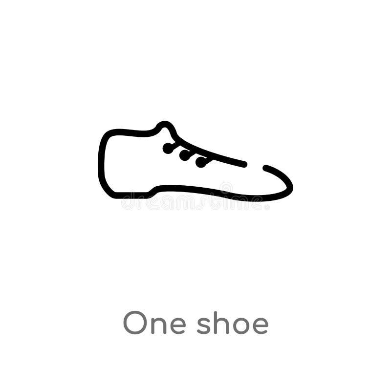 значок вектора ботинка плана одного изолированная черная простая линия иллюстрация элемента от концепции моды editable ход одно в иллюстрация штока
