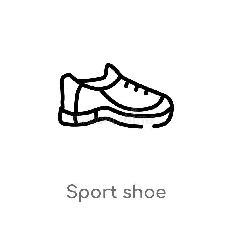значок вектора ботинка спорта плана r editable бесплатная иллюстрация
