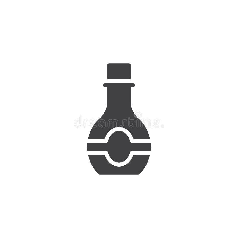 Значок вектора бутылки сиропа бесплатная иллюстрация