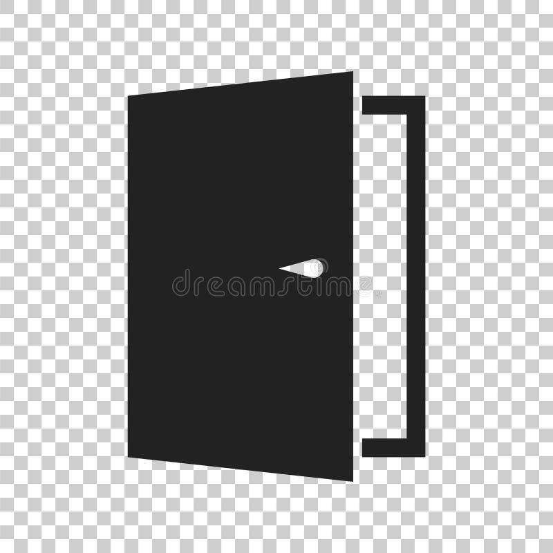 Значок вектора двери выйдите икона иллюстрация двери открытая иллюстрация вектора