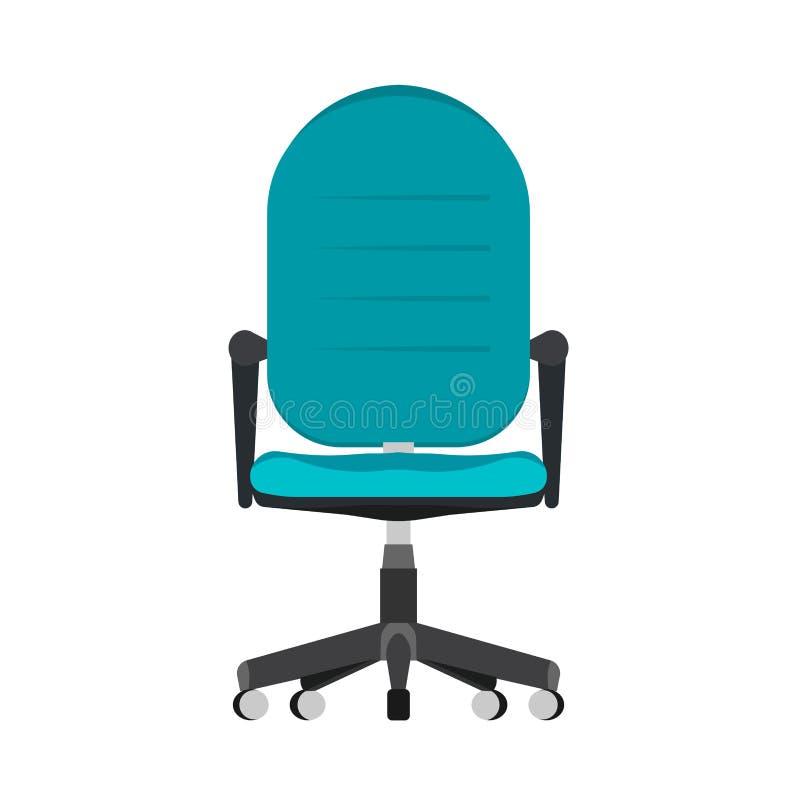 Значок вектора вида спереди стиля офиса стула omputer ¡ Ð Крытый удобный интерьер парковой роты Плоская мебель ПК рабочего места бесплатная иллюстрация