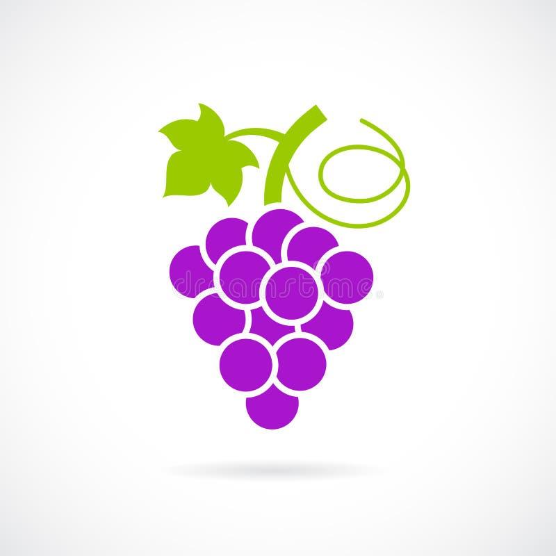 Значок вектора виноградины иллюстрация вектора