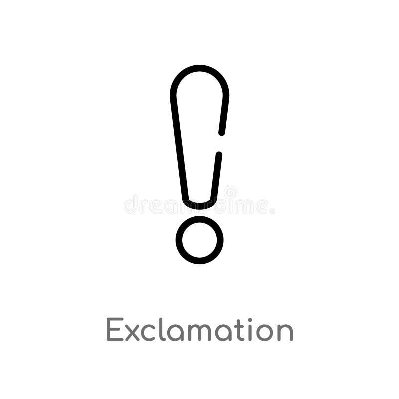 значок вектора возгласа плана изолированная черная простая линия иллюстрация элемента от концепции знаков editable ход вектора иллюстрация штока