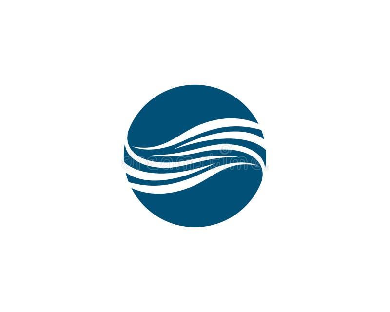 Значок вектора волны воды иллюстрация вектора