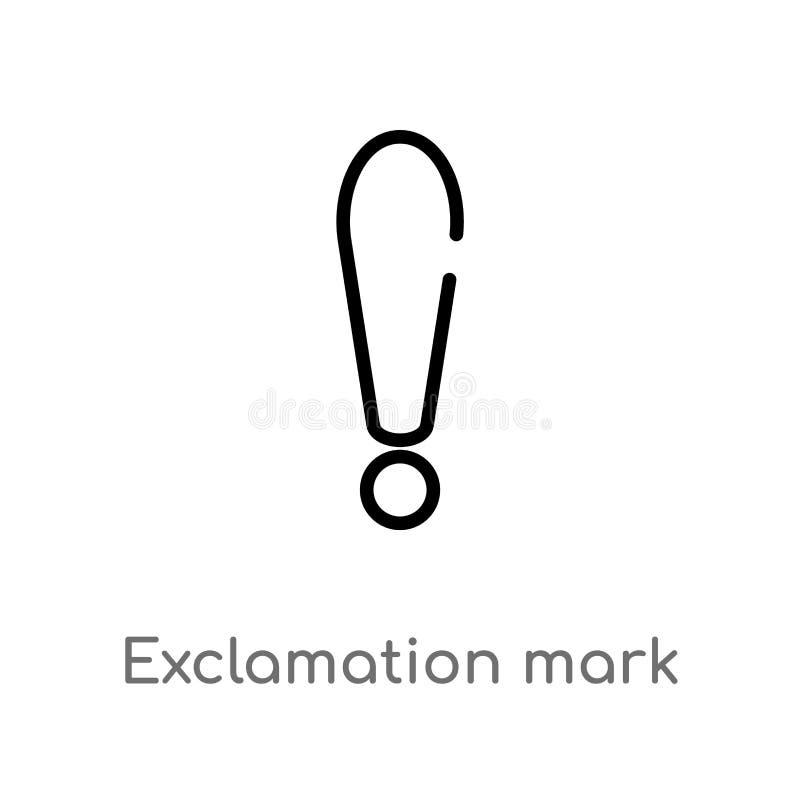 значок вектора восклицательного знака плана изолированная черная простая линия иллюстрация элемента от концепции знаков editable  бесплатная иллюстрация