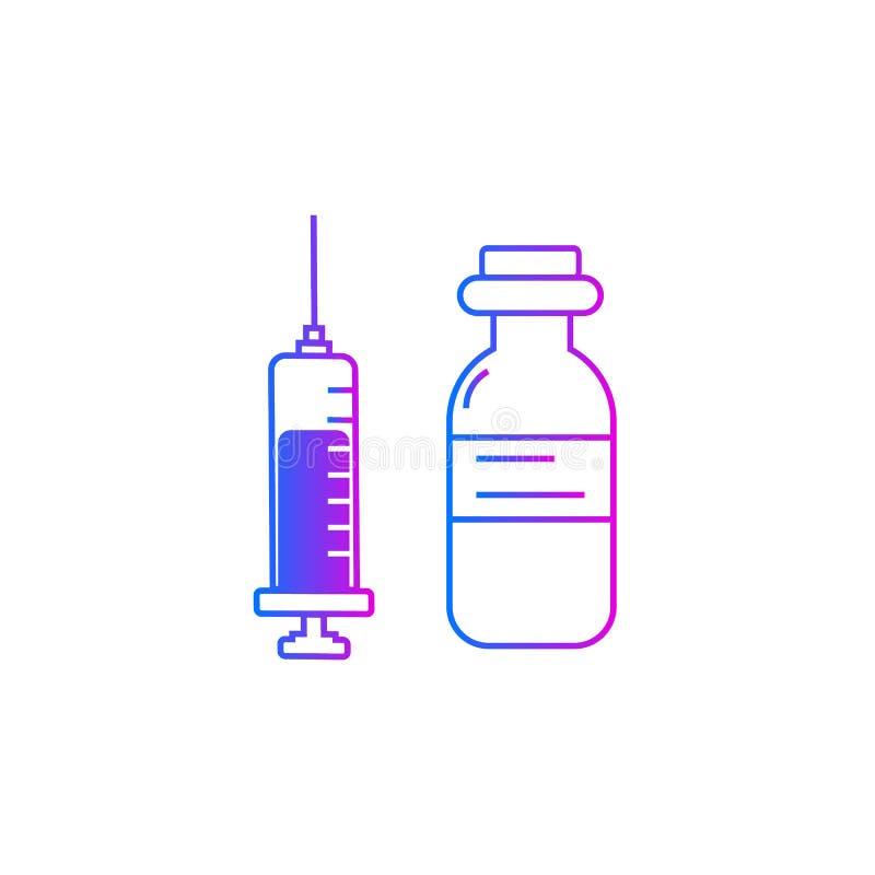 Значок вектора впрыски, доза лекарства иллюстрация штока