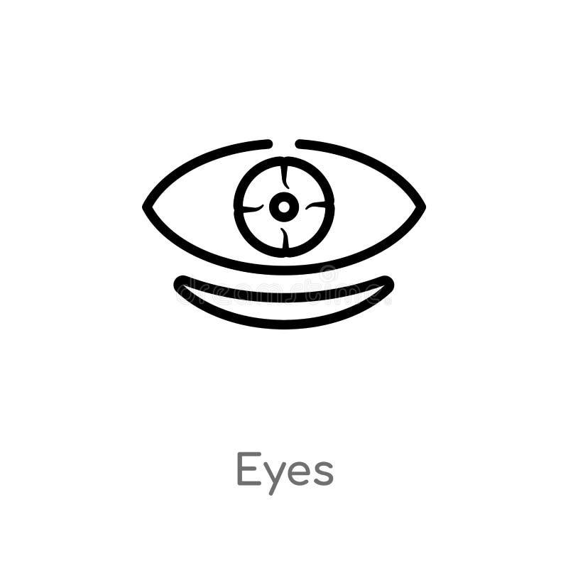 значок вектора глаз плана r editable значок глаз хода вектора дальше иллюстрация штока