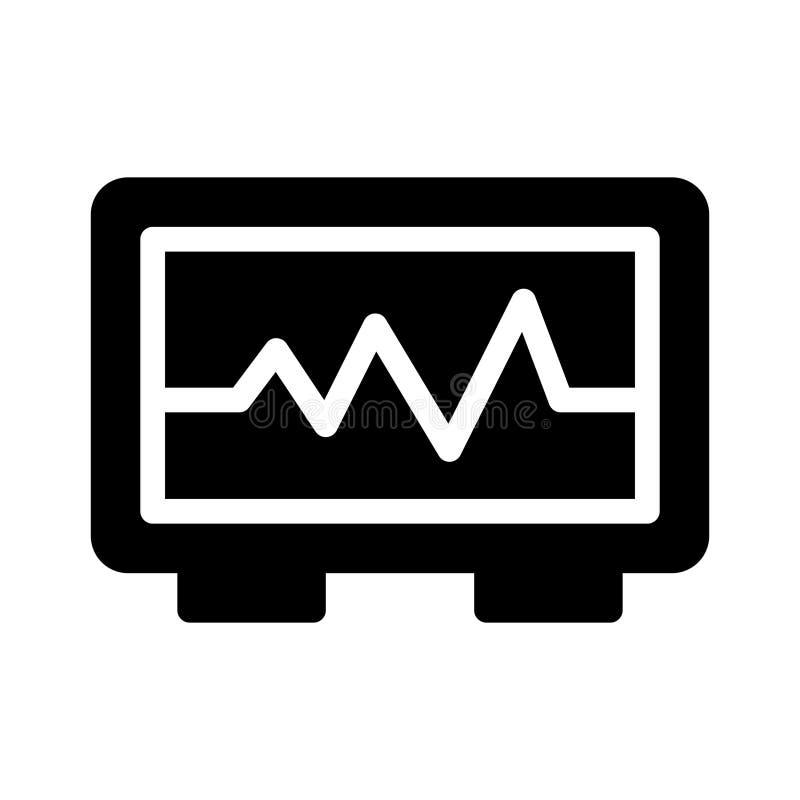 Значок вектора глифа ИМПов ульс плоский иллюстрация штока