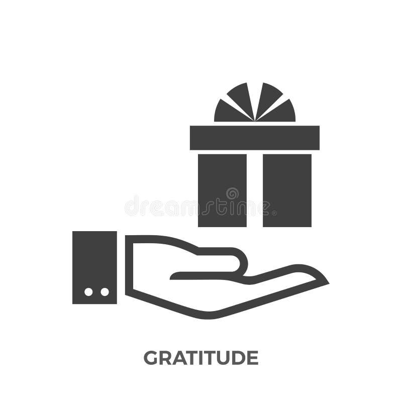 Значок вектора глифа признательности иллюстрация вектора