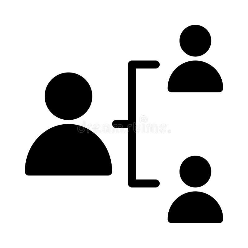 Значок вектора глифа соединения плоский иллюстрация вектора