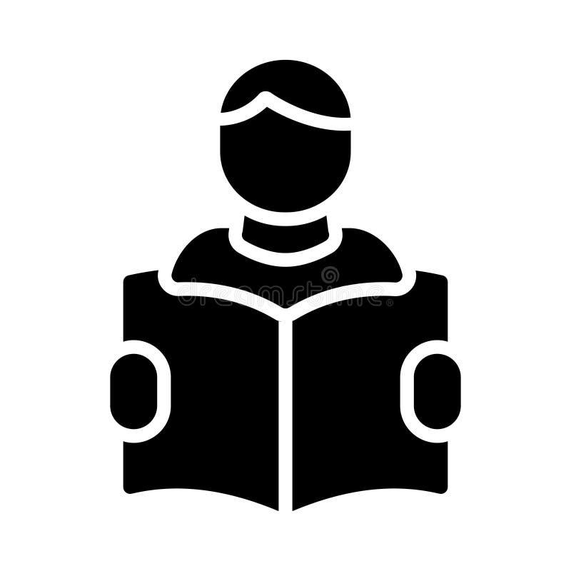Значок вектора глифа студента плоский бесплатная иллюстрация
