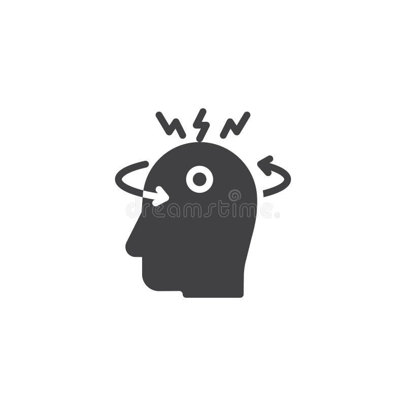 Значок вектора головокружения бесплатная иллюстрация