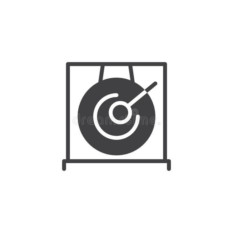 Значок вектора гонга и drumstick иллюстрация вектора