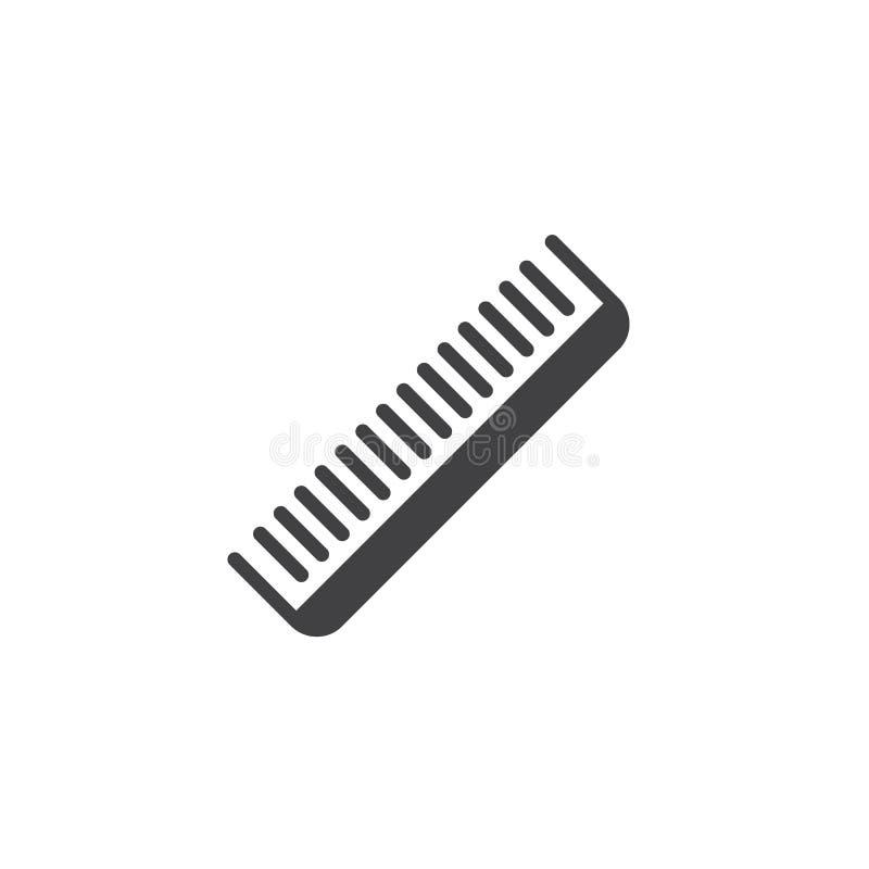Значок вектора гребня парикмахера иллюстрация вектора