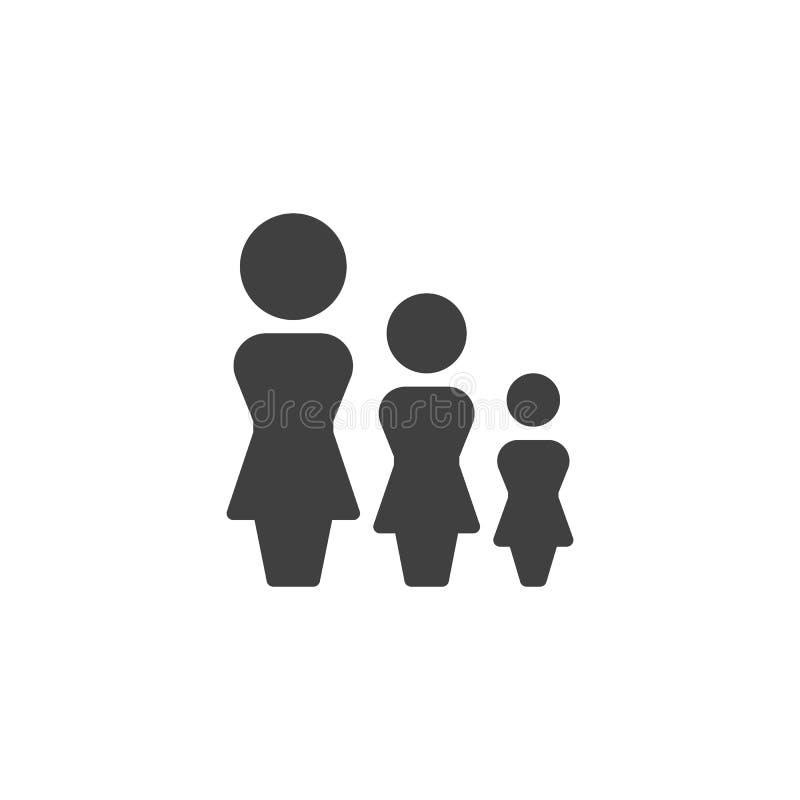 Значок вектора группы женщин бесплатная иллюстрация