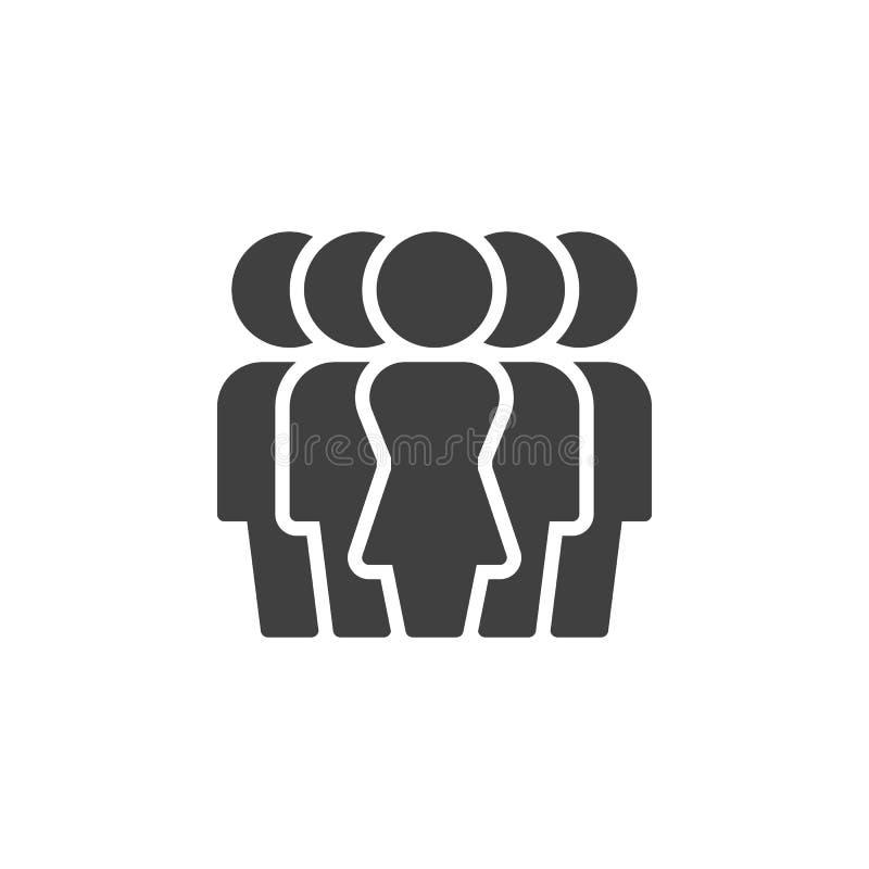 Значок вектора группы руководства женщины иллюстрация вектора