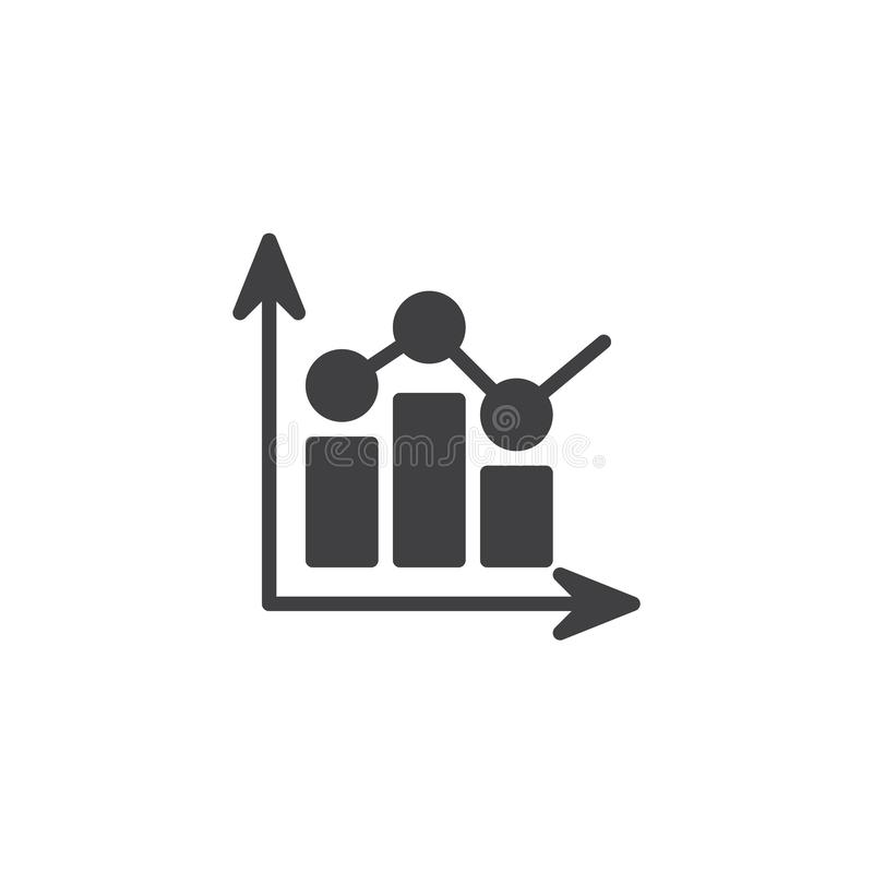 Значок вектора диаграммы бара статистики иллюстрация штока