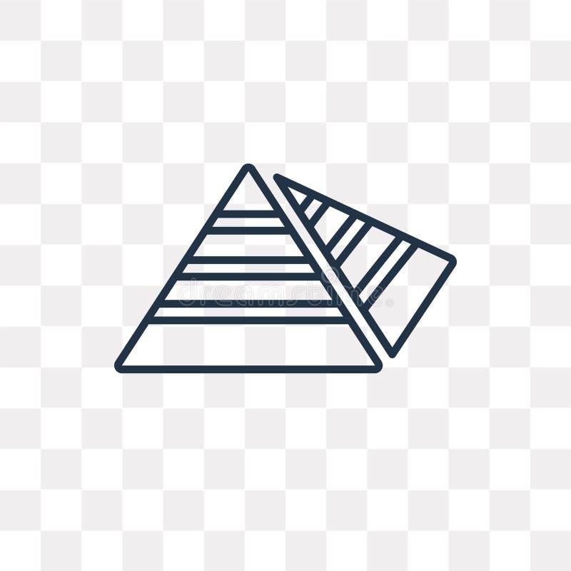 Значок вектора диаграммы пирамиды изолированный на прозрачной предпосылке, li бесплатная иллюстрация