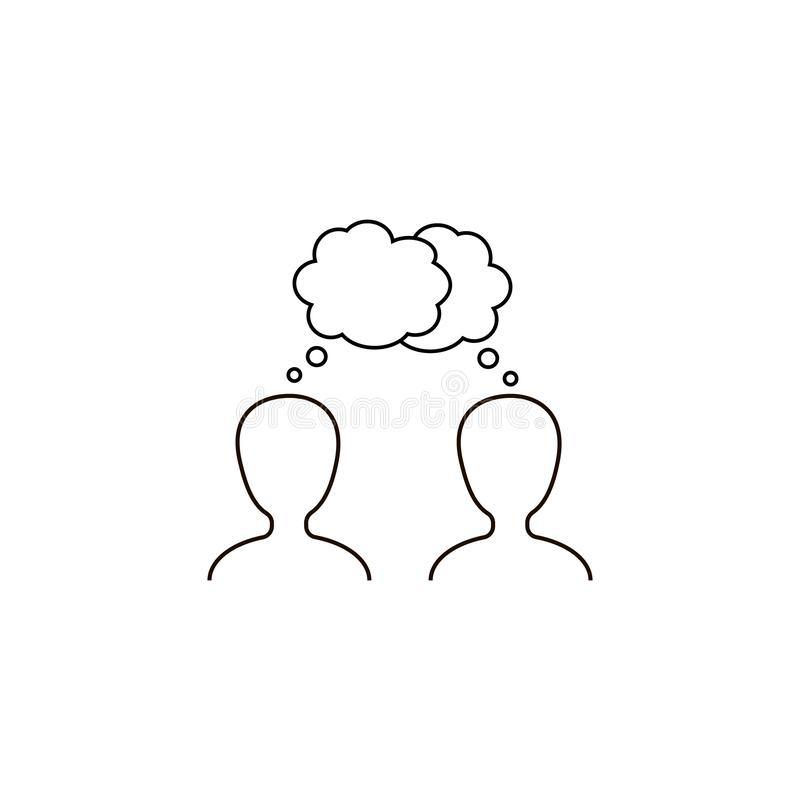 значок вектора диалога, диалог, разговор иллюстрация штока