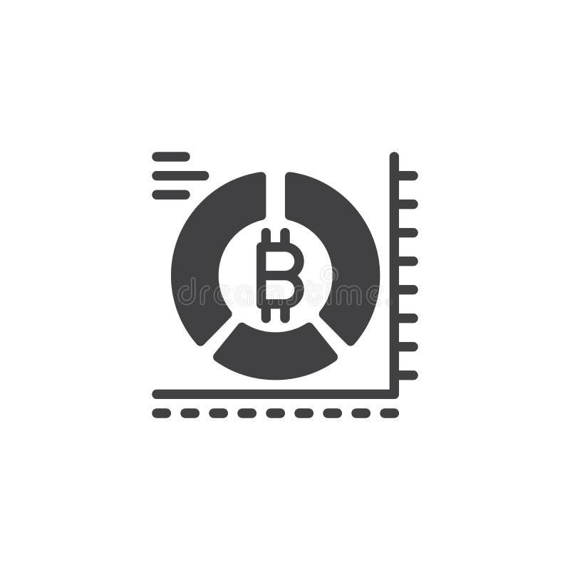 Значок вектора долевой диограммы Bitcoin бесплатная иллюстрация