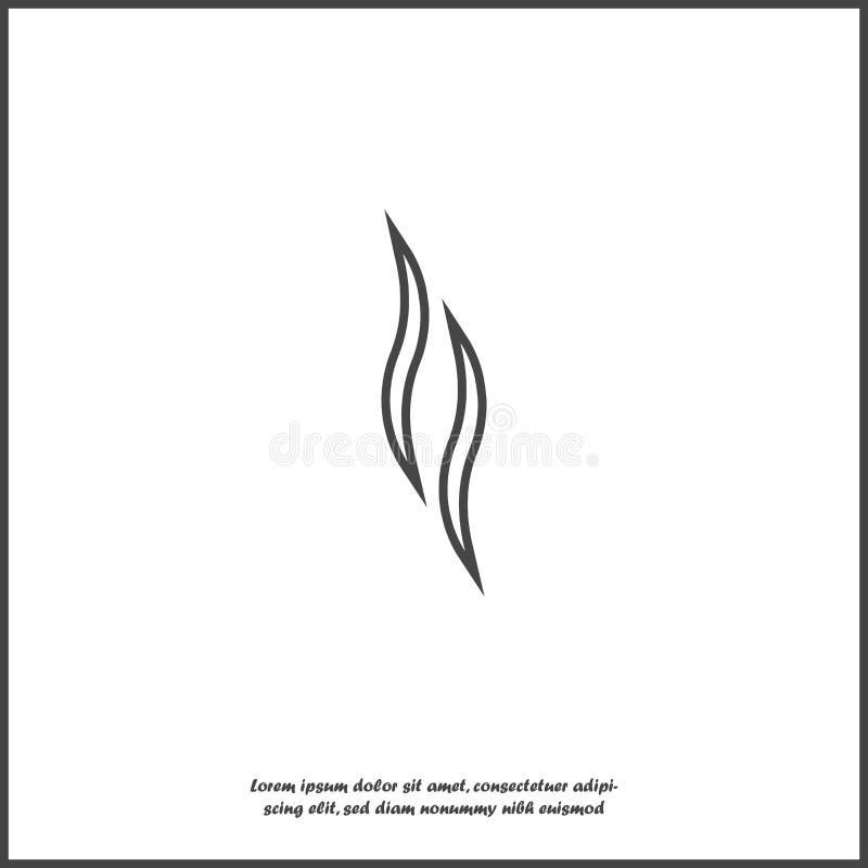 Значок вектора дыма на белой изолированной предпосылке Слои собранные для легкой редактируя иллюстрации иллюстрация штока