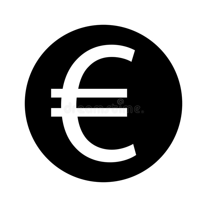 Значок вектора евро иллюстрация вектора