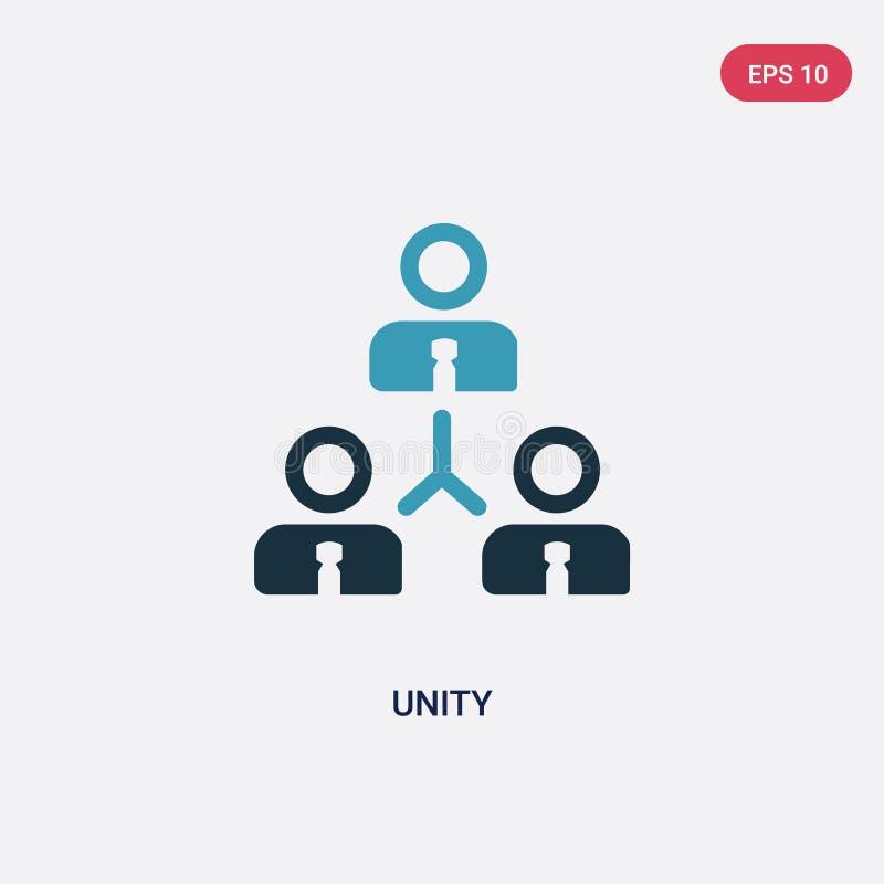 Значок вектора единства 2 цветов от политической концепции изолированный голубой символ знака вектора единства может быть пользой бесплатная иллюстрация