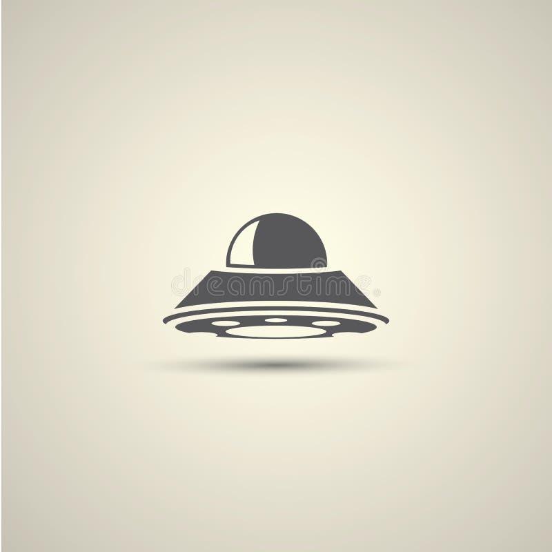 Значок вектора летающей тарелки Ufo бесплатная иллюстрация