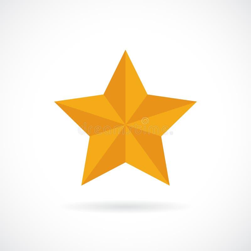 Значок вектора звезды золота бесплатная иллюстрация